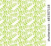 floral seamless pattern.... | Shutterstock .eps vector #681507118