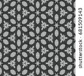 monochrome engraving pattern.... | Shutterstock .eps vector #681509143