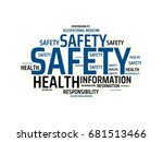 safety   danger   image with ... | Shutterstock . vector #681513466