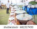catering buffet food party... | Shutterstock . vector #681517450