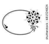 elegant black and white oval... | Shutterstock .eps vector #681524824