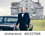 confident wealthy young man in... | Shutterstock . vector #681527008