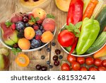 healthy food  healthy eating  ... | Shutterstock . vector #681532474