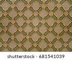 ottoman tiles detail in... | Shutterstock . vector #681541039