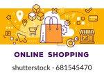 vector illustration of shopping ... | Shutterstock .eps vector #681545470