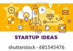 vector illustration of rocket ... | Shutterstock .eps vector #681545476