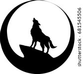 the vector logo wolf for t... | Shutterstock .eps vector #681545506