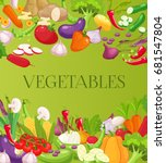 fresh vegetables background....   Shutterstock .eps vector #681547804