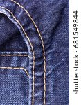 denim jeans background with... | Shutterstock . vector #681549844