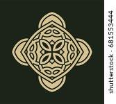 vintage abstract ornamental... | Shutterstock . vector #681553444