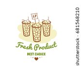 fresh product. best choice.... | Shutterstock .eps vector #681568210