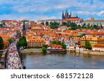 czech republic. city of prague. ... | Shutterstock . vector #681572128