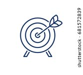 target line vector icon   Shutterstock .eps vector #681572839