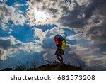 beautiful and happy girl... | Shutterstock . vector #681573208