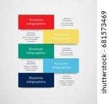 infographics in five areas.... | Shutterstock .eps vector #681573469