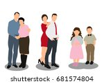 isolated  flat style  isometric ...   Shutterstock . vector #681574804