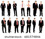 black and white silhouettes of... | Shutterstock . vector #681574846
