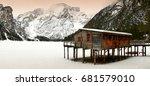 beautiful winter scenery at... | Shutterstock . vector #681579010