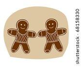 hand drawn zodiac sign. gemini   Shutterstock .eps vector #68158330