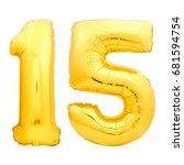 Golden Number 15 Fifteen Made...