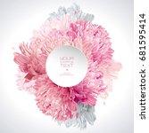 modern floral  art   luxurious... | Shutterstock .eps vector #681595414