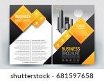 vector brochure layout  flyers... | Shutterstock .eps vector #681597658