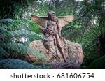 Small photo of Melbourne, Australia - July 2, 2017: William Ricketts Sanctuary in Mount Dandenong is a sculpture garden operated by Parks Victoria.