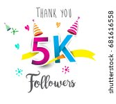 thank you design template for... | Shutterstock .eps vector #681616558