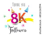 thank you design template for... | Shutterstock .eps vector #681616594