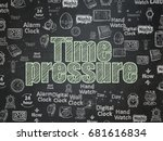 time concept  chalk green text... | Shutterstock . vector #681616834