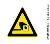 triangle yellow warning sign.... | Shutterstock .eps vector #681619819