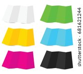 paper colored set illustration... | Shutterstock .eps vector #681621244