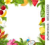 summer fruits poster with... | Shutterstock .eps vector #681622330