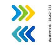 arrow colorful logo template