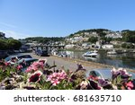 a view of looe  with the bridge ... | Shutterstock . vector #681635710