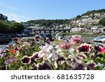 a view of looe  with the bridge ... | Shutterstock . vector #681635728