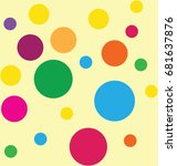 illustration with colorful... | Shutterstock .eps vector #681637876