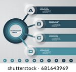 abstract 4 steps infographics... | Shutterstock .eps vector #681643969