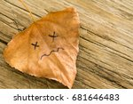 Brown Dried  Leaf With A...