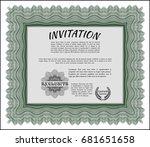green invitation template.... | Shutterstock .eps vector #681651658