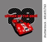 winner of the race vector t...   Shutterstock .eps vector #681651763