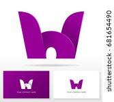 letter h logo icon design...   Shutterstock .eps vector #681654490