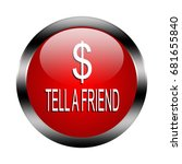 tell a frend button isolated ... | Shutterstock . vector #681655840