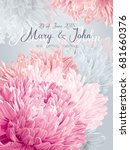 wedding invitation vector card... | Shutterstock .eps vector #681660376