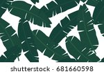 tropical palm leaves  jungle... | Shutterstock .eps vector #681660598