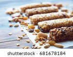healthy bars with nuts  seeds... | Shutterstock . vector #681678184