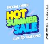 hot summer sale  special offer  ... | Shutterstock .eps vector #681692518
