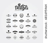 premium and luxury retro badges ... | Shutterstock .eps vector #681695464