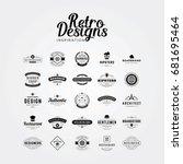 inspiration for retro label...   Shutterstock .eps vector #681695464