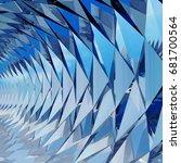 3d rendering triangular vortex... | Shutterstock . vector #681700564
